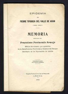 Memòria sus era epidèmia de fèbre tifoïda ena Val d'Aran
