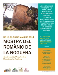 """Cartell Exposició """"Mostra del Romànic de la Noguera"""""""